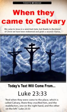 9691 - When they were come to Calvary