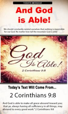 9726 - And God is able