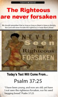 9698 - The righteous are never forsaken