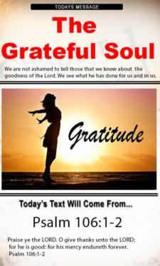 9801 - The Grateful Soul