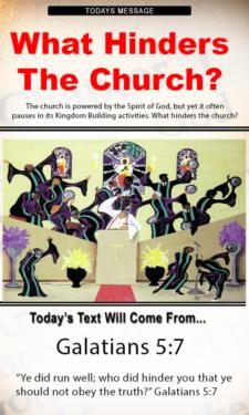 9686 - What hinders the church?
