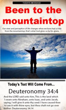 9720 - When you have been to the mountaintop