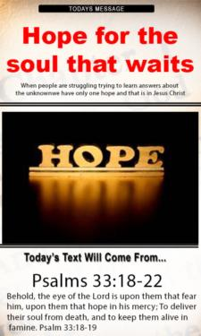 10112 - Hope for the soul that waits on God